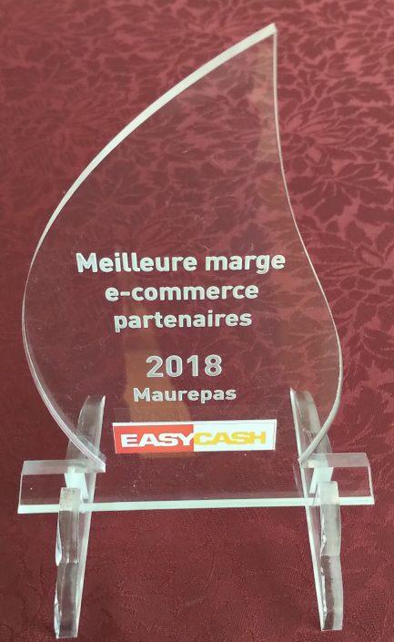 Trophée EasyCash gravé par ABC Gravure